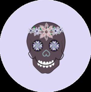 Sugar Skull (Purple)